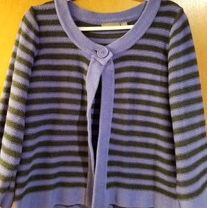 Striped purple and black Crodt & Barrow Sweater